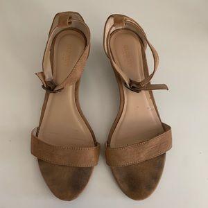 Old Navy Nude Starppy Wedge Heels, Size 9